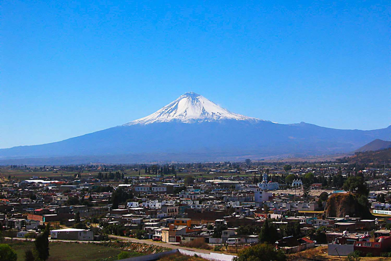 Popocatepetl mexico cholula