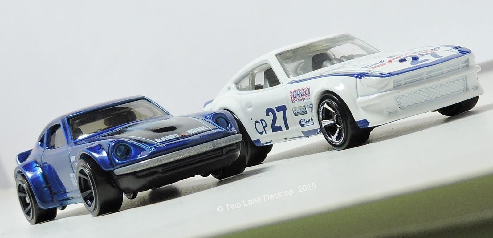 Hot Wheels Nissan Fairlady Z and Datsun 240Z | Two Lane Desktop