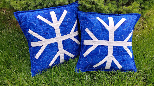 Snowfall pillows