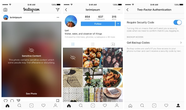 Instagram update brings Two-factor authentication