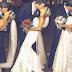 Three brides wear the same dress, groom got confused.