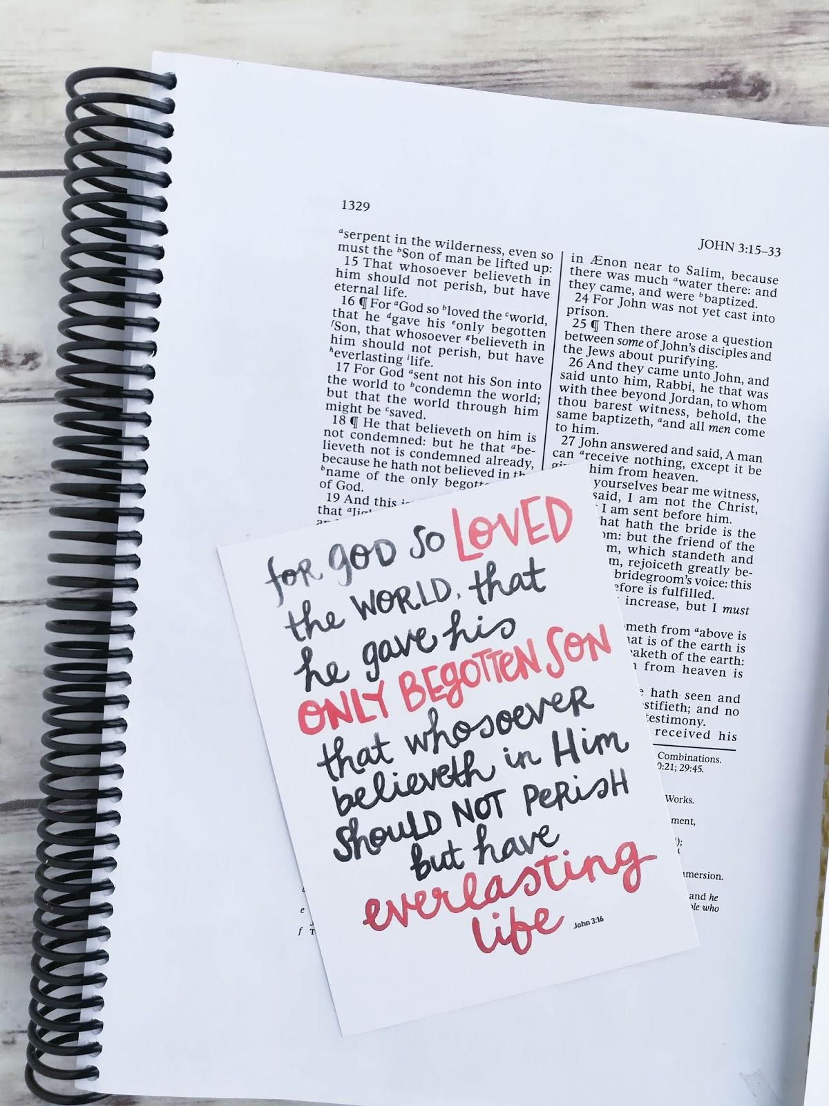 A Lively Hope For God So Loved The World John 3 16 Printable