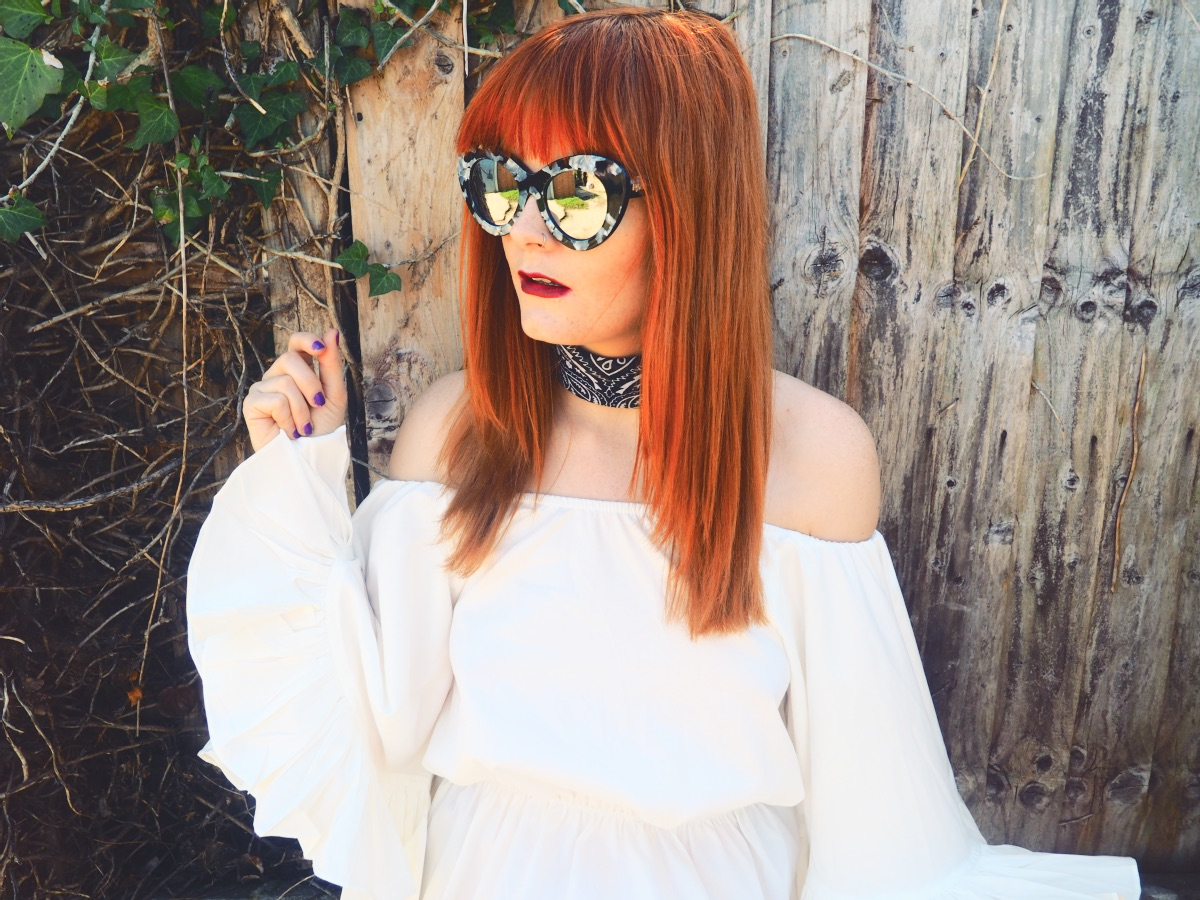 Le Specs Marble Fashion Blogger Cat Eye Sunglasses