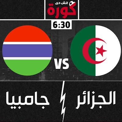مباراة الجزائر وجامبيا