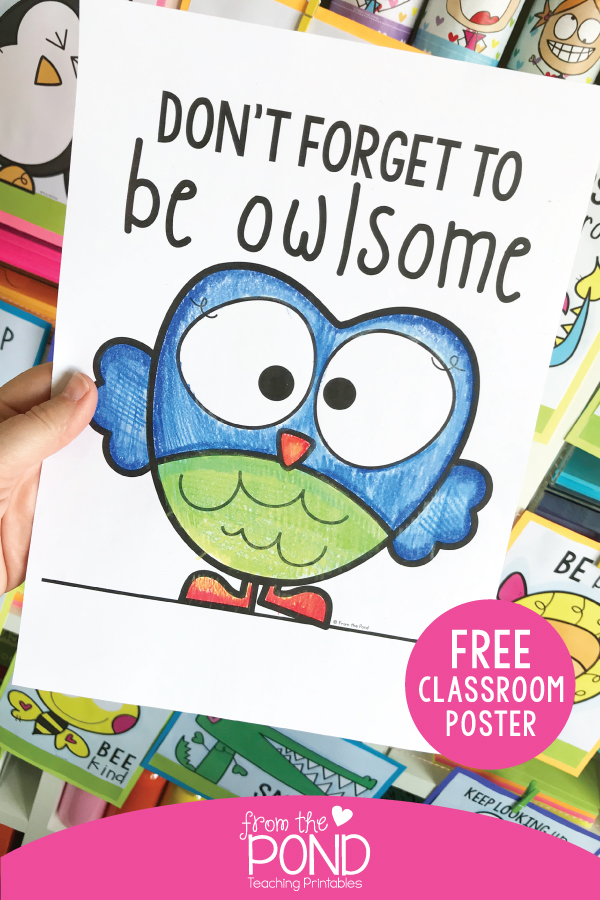 Free Coloring Poster For The Classroom
