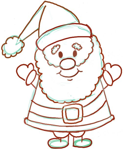 Santa Pictures To Draw