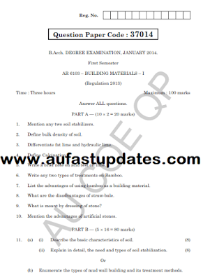Affiliated Colleges - Previous Year Question Bank - 2013 Regulations