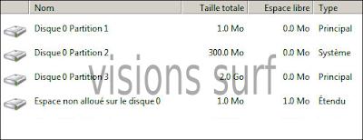 Sélection de partition et disque d'installation