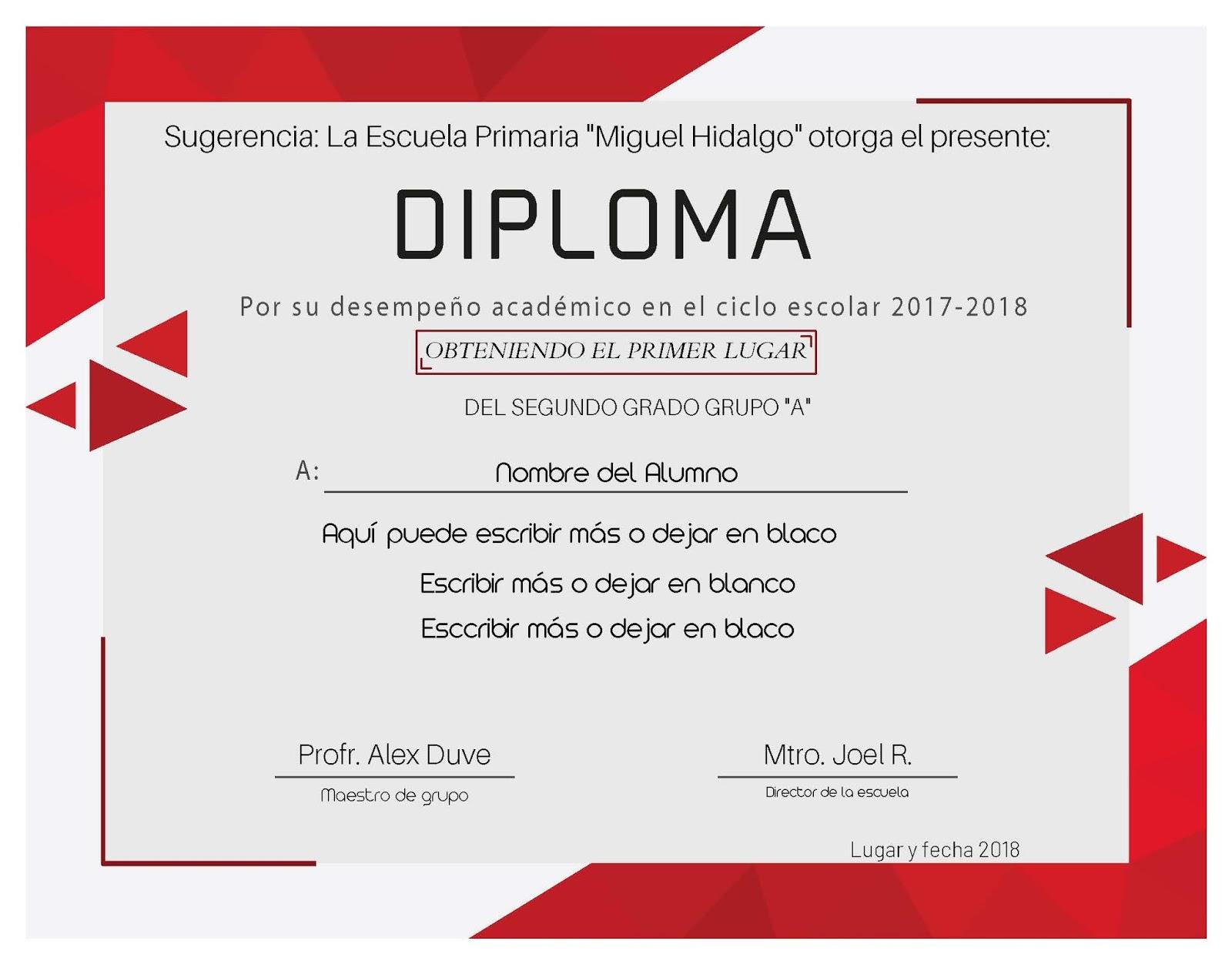 diploma para editar de manera simple descarga gratuita alexduv3