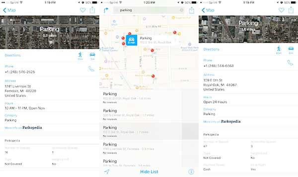 Apple Maps dengan tim Parkopedia menambahkan fitur parkir