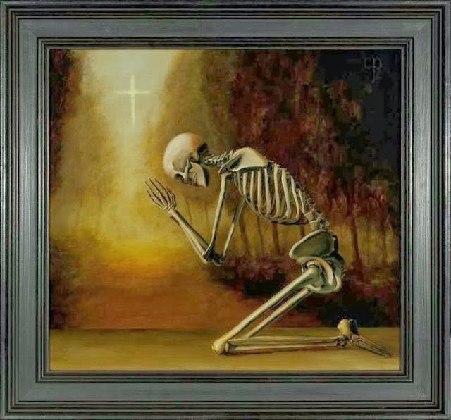 Funny Prayer Waiting For God Painting Picture
