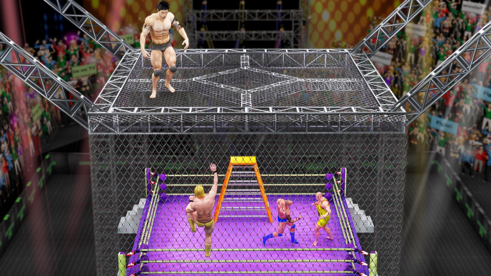 Cage Wrestling Revolution Ladder Match Fighting MOD APK