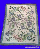 hummingbird blanket throw tapestry