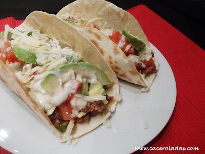 Burritos de carne picada