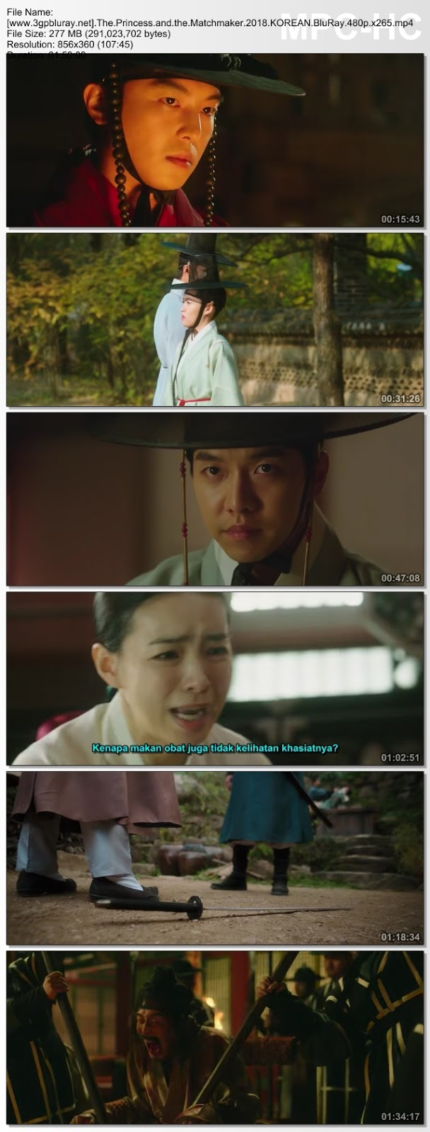 Screenshots Download The Princess and the Matchmaker (2018) BluRay 480p & 3GP Subtitle Indonesia