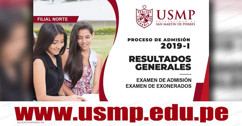 Resultados USMP 2019-1 (Domingo 10 Febrero) Lista de Ingresantes Examen General Admisión y Exonerados - Universidad de San Martín de Porres - www.usmp.edu.pe