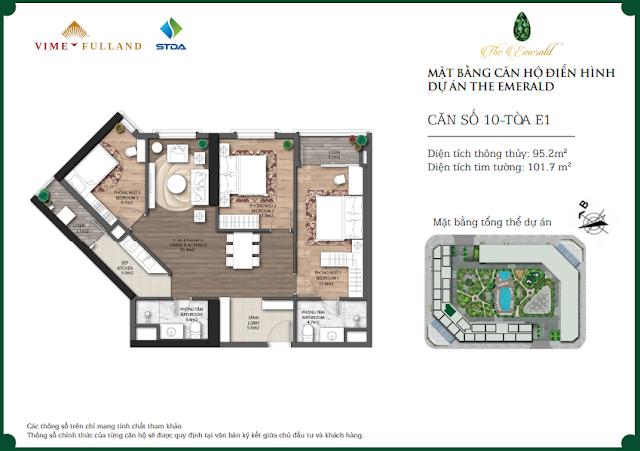 Căn 10 tòa E1 The Emerald