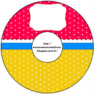 Red, Light Blue and Yellow Free Printable CD Labels.