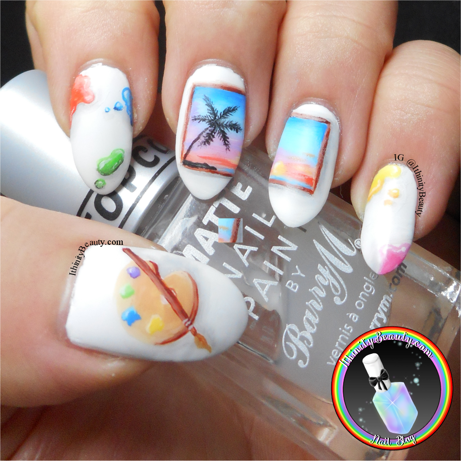 Freehand Art Inspired Nails Painting Of A Painting