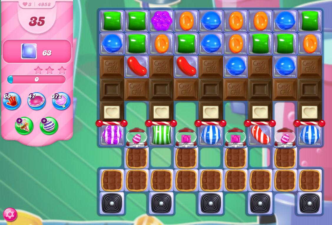 Candy Crush Saga level 4958