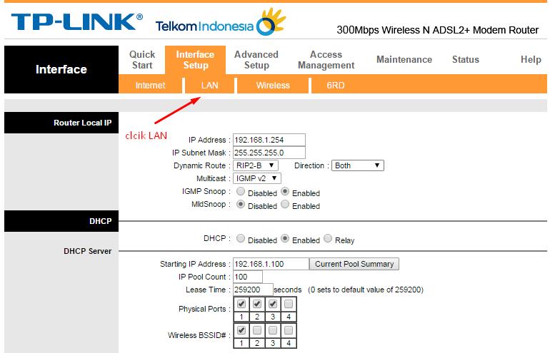 Cara Setting DNS Server Pada Modem Speedy TP-Link