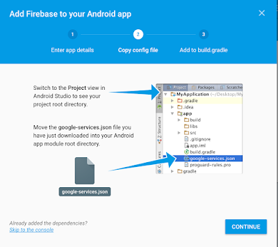Firebase Android configuration json console