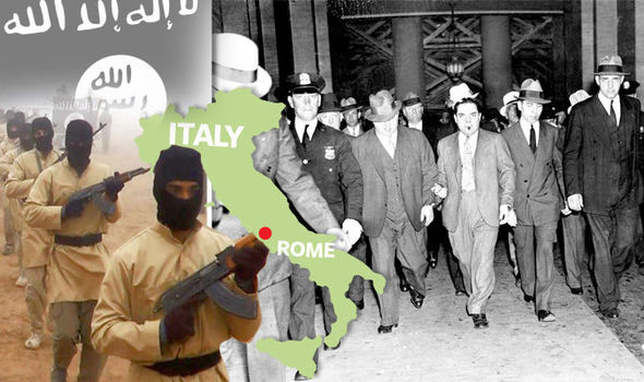 The hate manual, titled The Black Flags from Rome, ranks several of Italy's Mafias as ISIS militants' most feared adversaries.