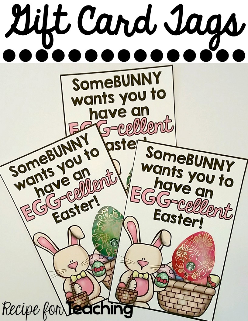 Easter gift tags recipe for teaching easter gift tags negle Image collections