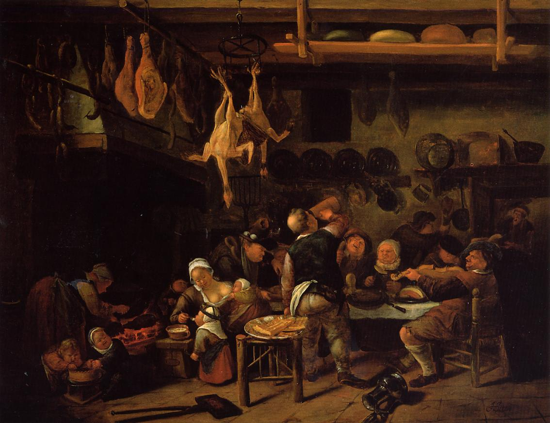 Th Century Paintings Of Kitchens