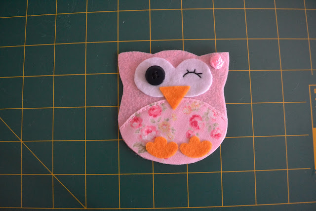 Step by step felt owl tutorial