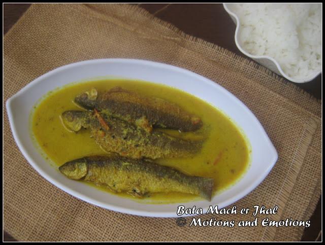 Bata Mach er Jhal / Labeo Bata in Mustard Gravy