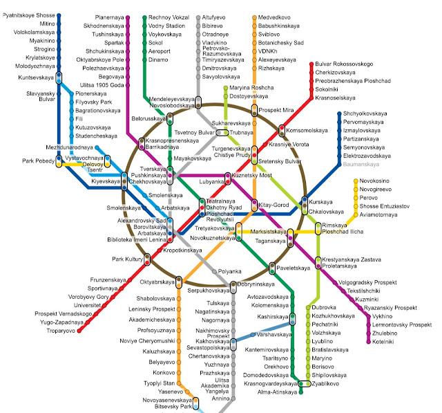 mapa do metro de moscou em inglês