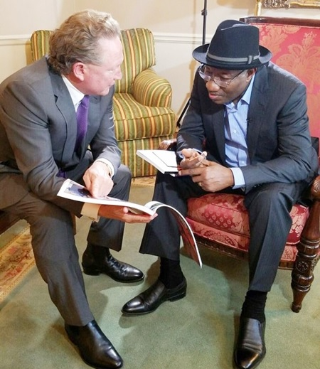 Goodluck Jonathan Meets Australian Billionaire in US, Set to Launch His Foundation (Photos)