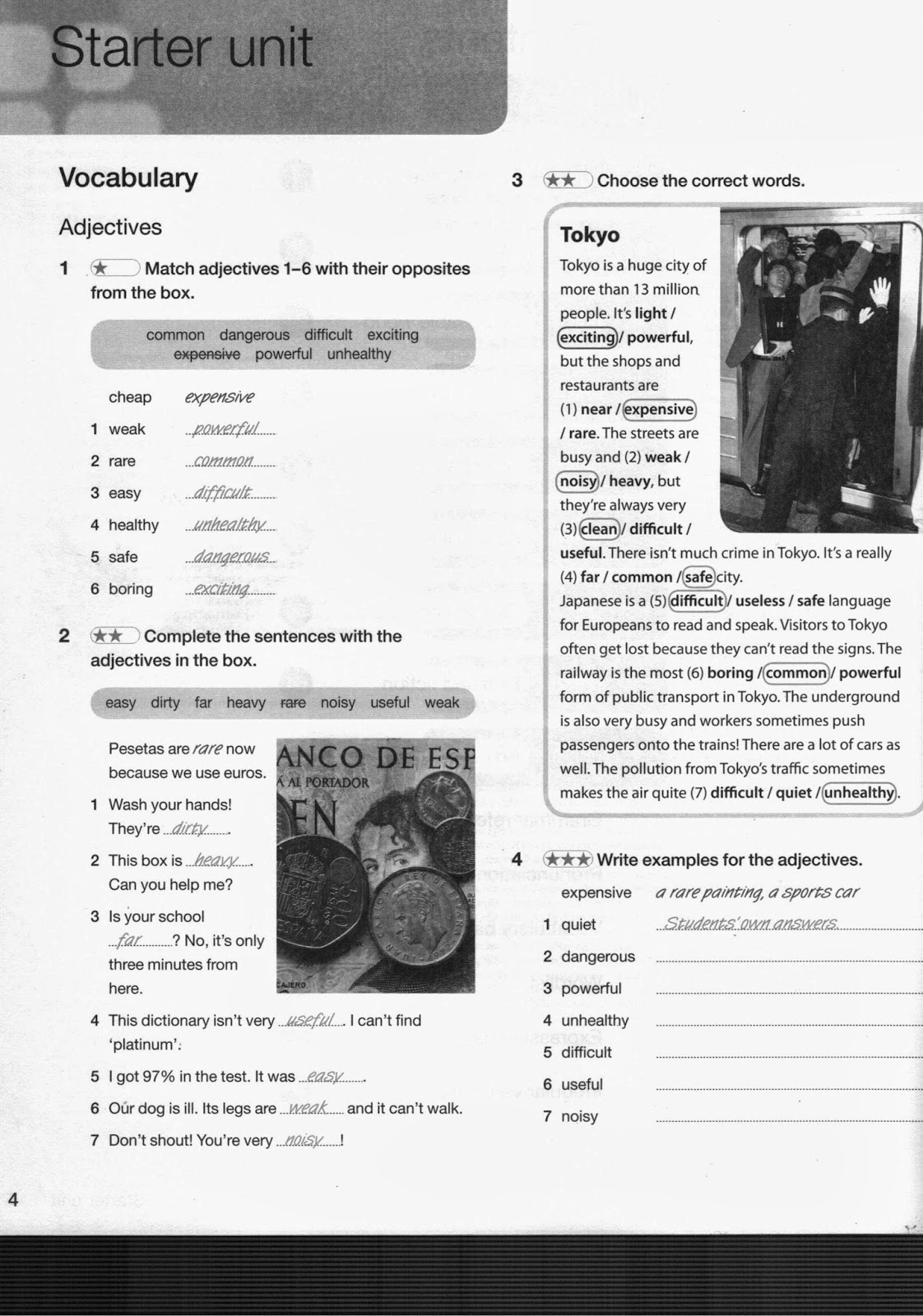 Rest And Rice Answer Key To Starter Unit Workbook Exercises For Self Correction