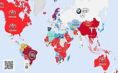 ماهى شركات السيارات المشهوره الاكثر بحثا على محرك البحث جوجل حول العالم ؟