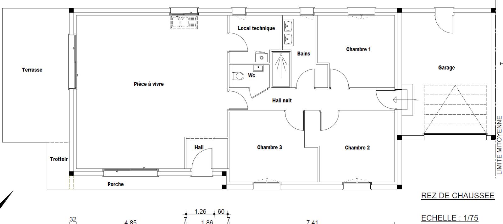 ma troisi me maison sera rt 2012 plan maison. Black Bedroom Furniture Sets. Home Design Ideas