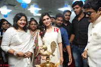 Samantha Ruth Prabhu Smiling Beauty in White Dress Launches VCare Clinic 15 June 2017 067.JPG