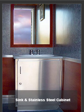 The Newport 1100 Sink and Stainless Steel Cabinet
