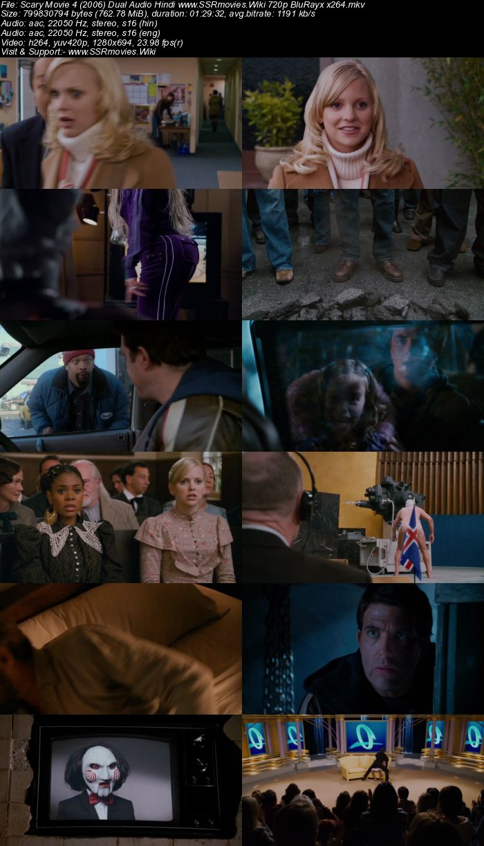 Scary Movie 4 (2006) Dual Audio Hindi 480p BluRay 300MB