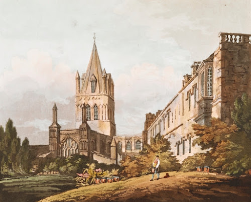 View of Christ Church Cathedral, by Turner; engraved by Reeve. 1807