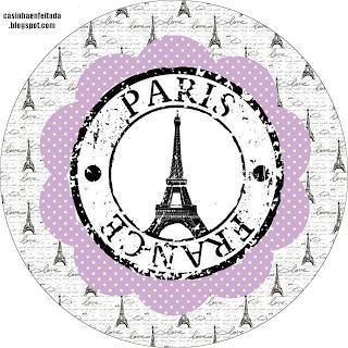 kit festa paris imprimir grátis lilás preto 15 anos