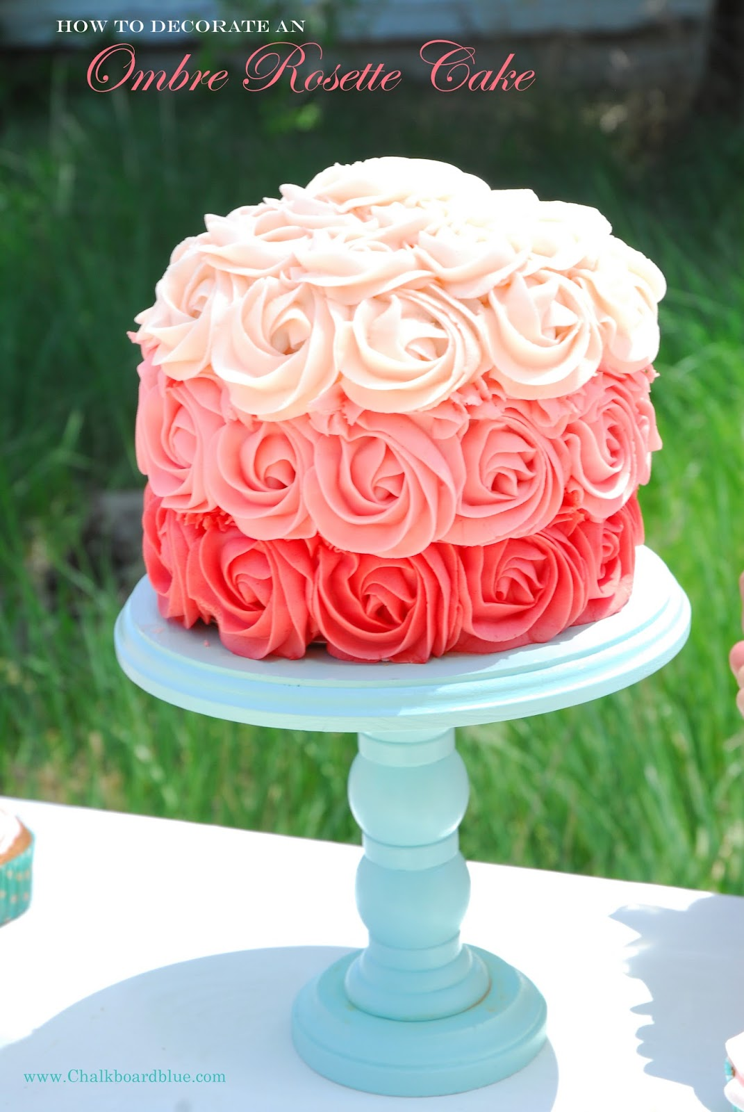 Ombre Rosette Cake Recipe