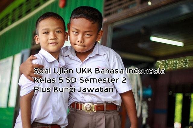 Soal Ujian UAS/UKK Bahasa Indonesia Kelas 5 SD Semester 2 Plus Kunci Jawaban