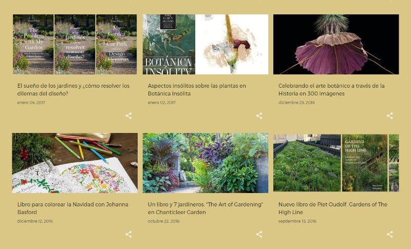 Día del libro 2017.Libros jardinería, jardines y botánica