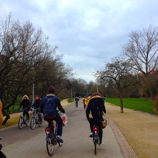 bicycling at vondelpark Amsterdam