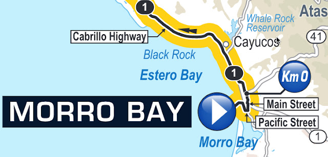 Map of start in Morro Bay 2016 Amgen Tour of California