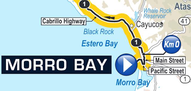 Map of start in Morro Bay 2016 Amgen Tour of California