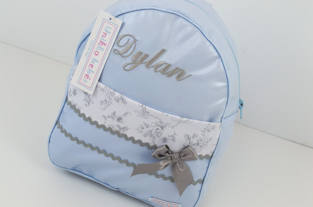 mochila bebe toile jouy personalizada