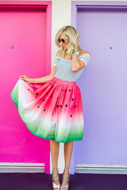 Watermelon printed skirt