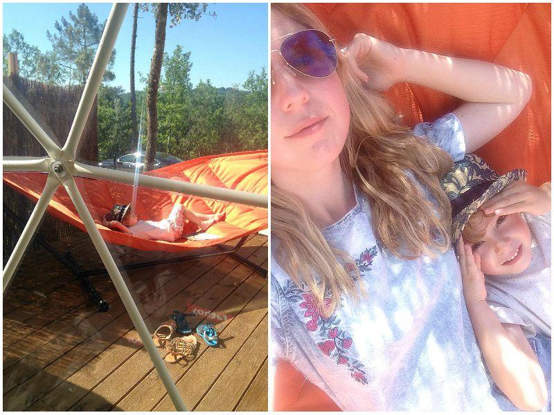 hammocks at Glisten Camping